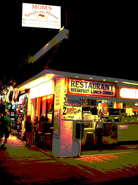 Mom's spaghetti house /  Wildwood, New-Jersey - USA / Postérisation