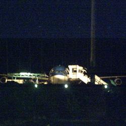 mon avion ! de nuit a  tahiti