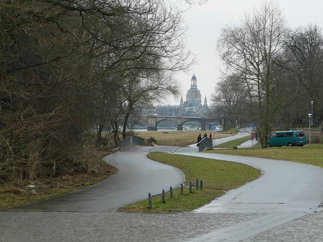 Blick auf die Frauenkirche in Dresden
