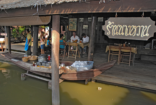 The restaurant at the Floating Market ตลาดน้ำ