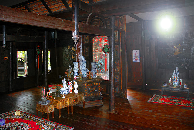 Inside decoration in a noble Thai house