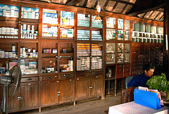 Inside an historic chemist shop 100 years ago