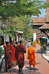 Monks visiting Mueang Boran