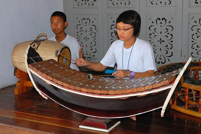 Taphon drum ตะโพน and Ranat Ek ระนาด