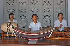 Thai trio playing classical music