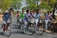 Visiting Mueang Boran by bicycle