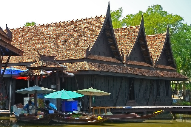 The Floating Market as a real nice sample
