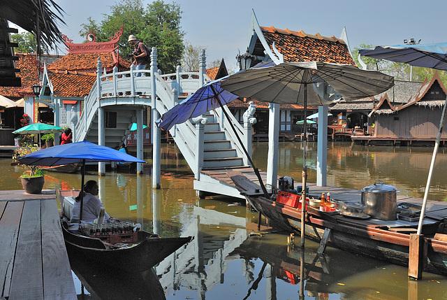 The Floating Market ตลาดน้ำ in Mueang Boran