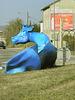 vaches bleues (rond-point des 3 godelles à Commercy)
