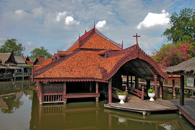 Catholic church at the Floating Market