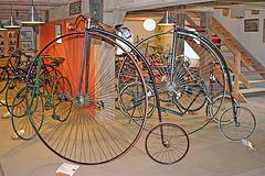 Biciklomuzeo en la kastela areo en Nové Hrady