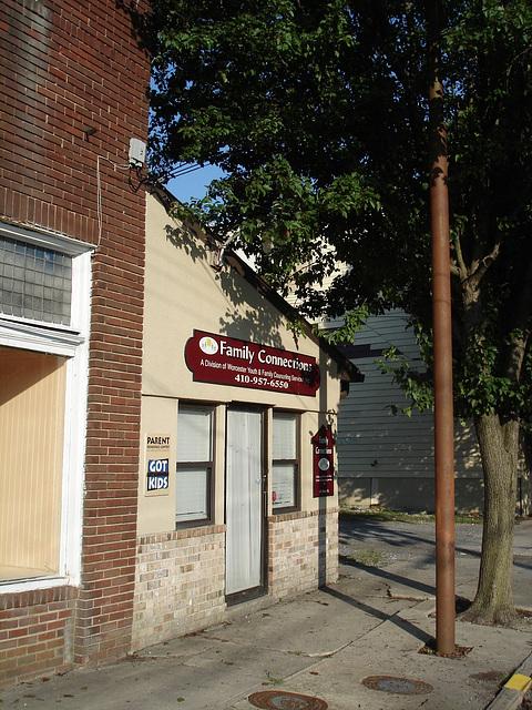 Family connections corner / Le coin des rapports familiaux - Pocomoke, Maryland. USA - 18 juillet 2010