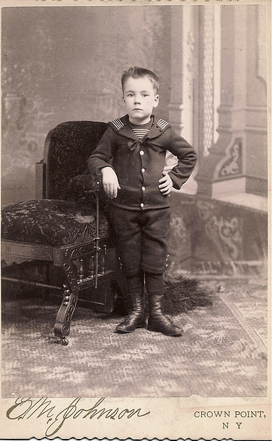 Young Boy in Sailor Suit