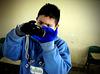 Manuel en el Taller de Fotografía