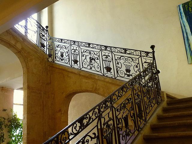 L'escalier du Tribunal de Commerce