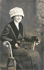 Young Girl with Pudding Basin Hat