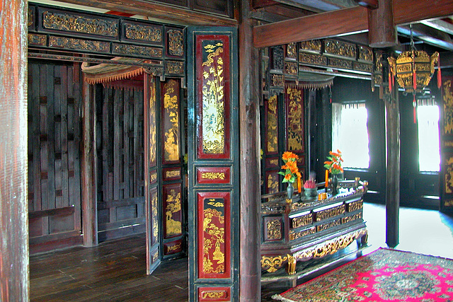 Inside a Thai house in Mueang Boran