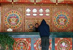 Réception: Hôtel d'un monastère .Altitude 3500m environ