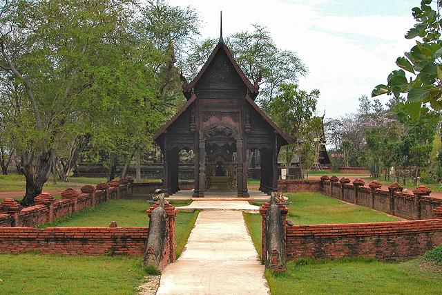 Wihan at Sa-Moeng in Mueang Boran