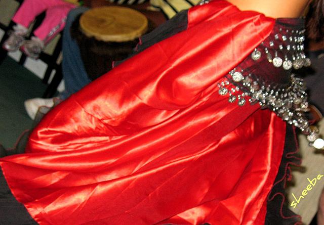 Swirling red...