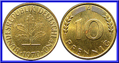 Allemagne de l'Ouest 10 Pfennig 1970