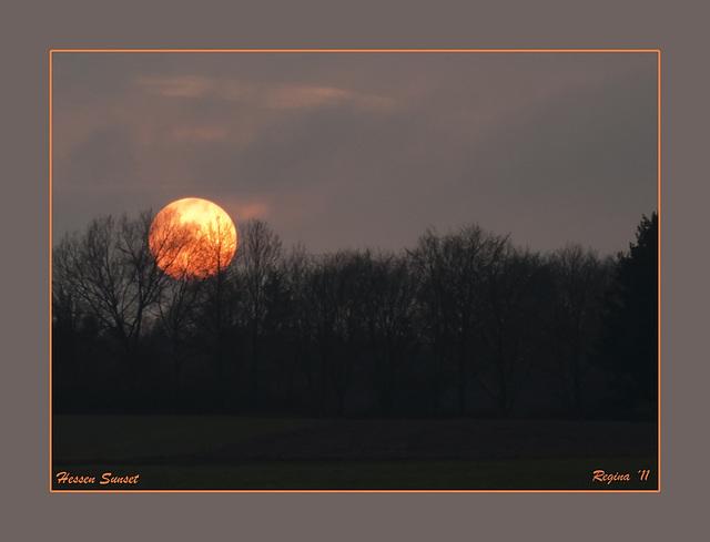 A Valentine's Day Sunset in Hessen
