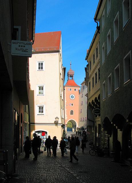 Altstadtgasse in Regensburg