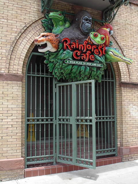 Rainforest cafe / San Antonio, Texas. USA - 3 juillet 2010