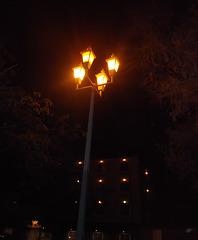 Quatuor luminaire dans la nuit mexicaine.