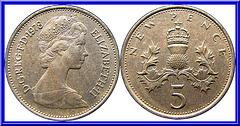 Royaume Uni 5 New Pence 1978
