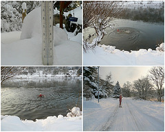 2.12.2010 Badefreuden im Winter - Banplezuroj en vintro
