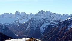 Dolomiten, der erste Schnee