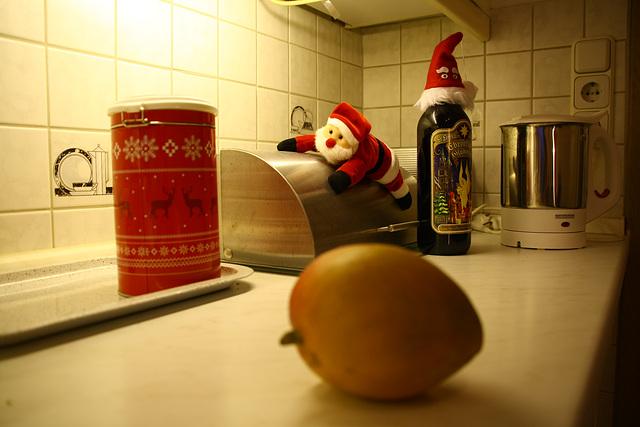 Warum liegt da eine Mango im Bild?