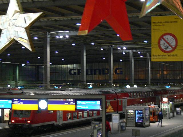 München - Advent im Hauptbahnhof