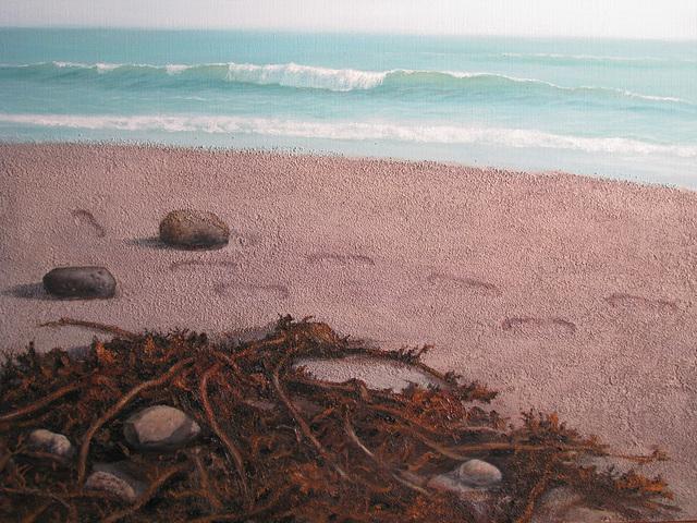 a Scene of Kamakura Seaside 3=鎌倉海邊 3, 油畵= oil on canvas, 50x65cm(15p)