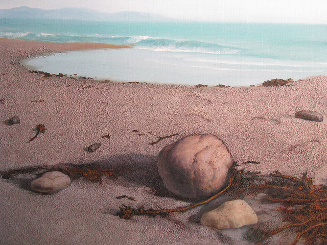 a Scene of Kamakura Seaside 4=鎌倉海邊 4, 油畵= oil on canvas, 50x65cm(15p)
