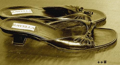 Talons hauts Ravellas à Lilette / Lilette's Ravellas high heels shoes - Sepia  /  4 décembre 2008.