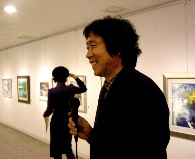 Song salutas en la malfermo de Seoul-Outdoor Sketching Group-Exhibition, 허성-서울사생회전(2008, 인사아트플라자) 오프닝-12월8일
