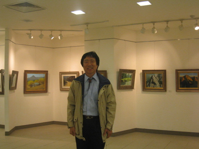 cxe la 2a pentrajxa ekspozicio de Song Ho, 2009. 허성2개인전잠실-작가사진0905