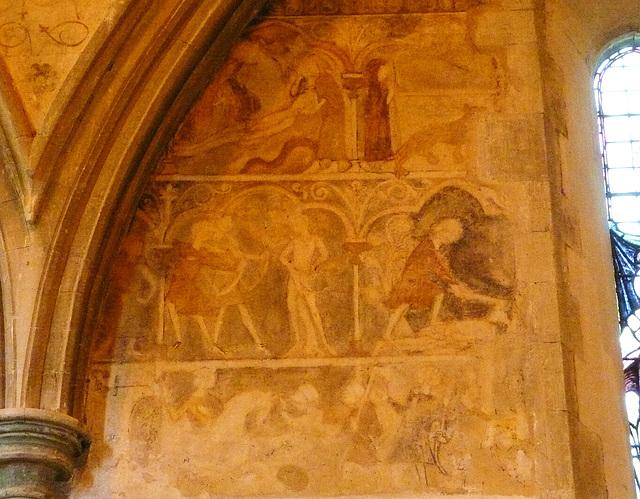 cliffe, n. transept murals, c13