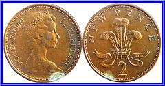 Royaume Uni  2 New Pence 1971