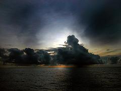 Thunderstorm coming at the horizon