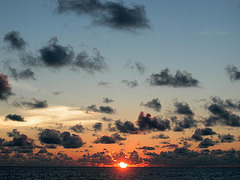 Sunset at the skyline