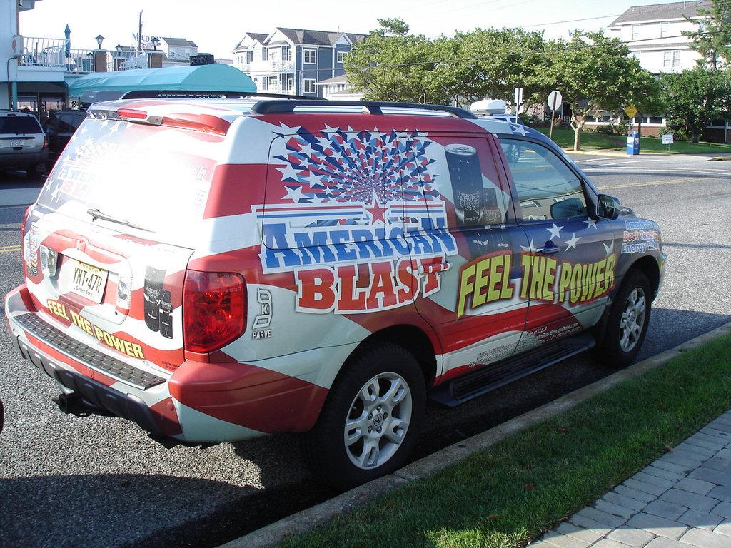 Art decorated truck / Camion flamboyant - Wildwood, New-Jersey. USA - 19 juillet 2010.