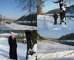 Ein Winterspaziergang an der Elbe