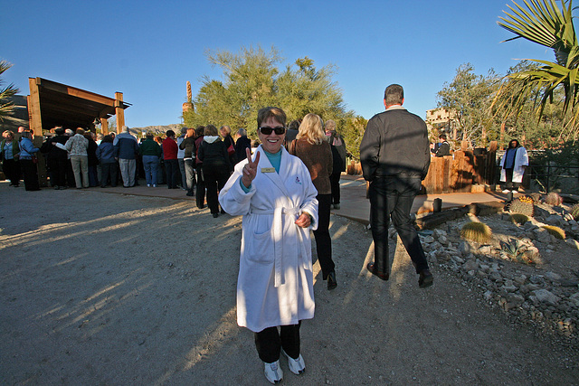 Alta Hester as Docent At Cabot's For The Spa Tour (8765)