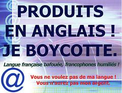 """Carte postale """"Je boycotte"""" / Poŝtkarto """"Mi bojkotas"""""""