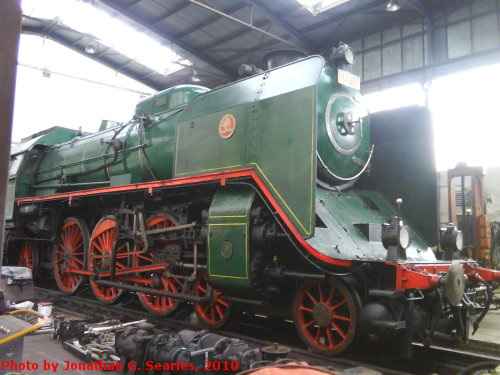 Ex-CSD #387.043 in the Engine Shed at the CD Muzeum, Luzna u Rakovnika, Bohemia (CZ), 2010