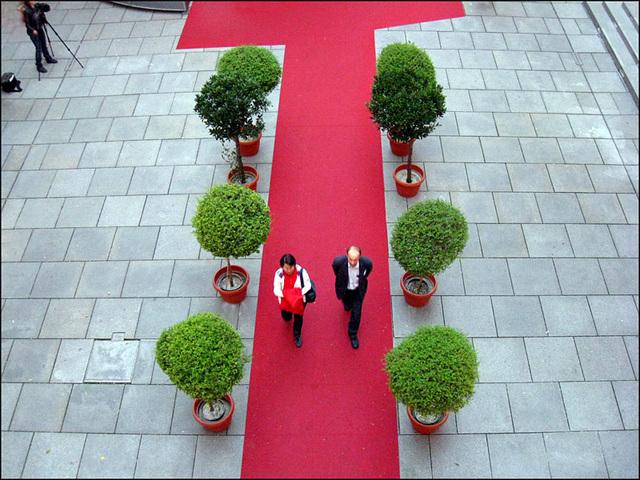 red carpet catwalk