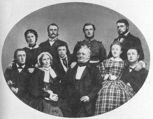 Familie Russell um 1865